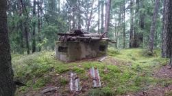 Bunker i skog....