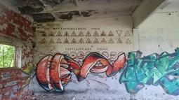 Snygg grafitti, men på fel ställe :(