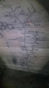Karta över tunnlarna.